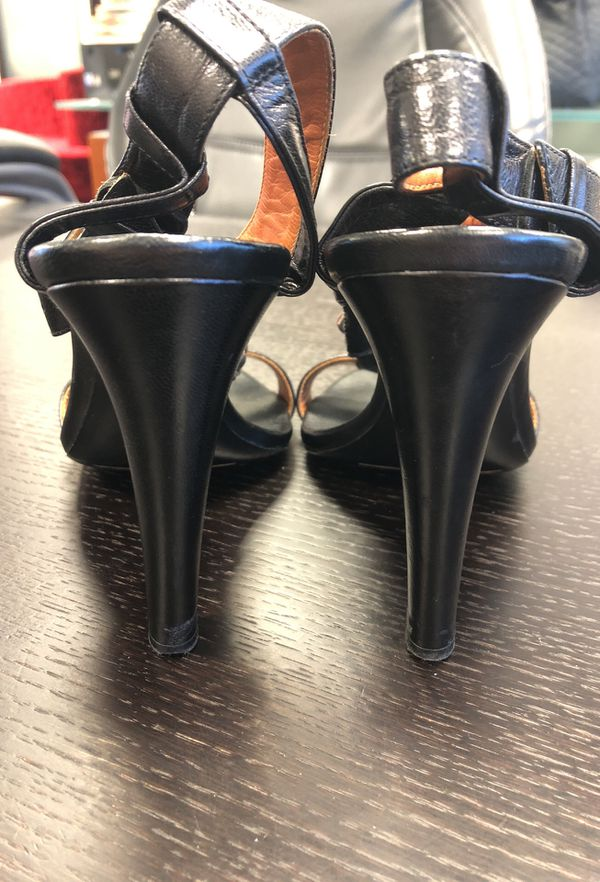 Dries Van Noten 2009 Rare Collection Black Heels with Sterling Silver Beading