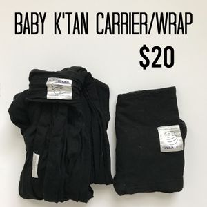 Baby k'tan carrier, Black for Sale in Grove City, OH