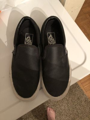 Vans slip on leather shoes for Sale in Benton, KY