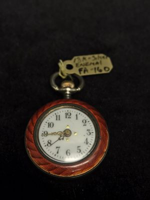 Vintage Swiss Pocket Watch 18 k Gold with Silver enemal # A32 for Sale in Upland, CA
