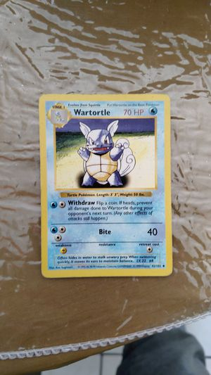 Shadowless Wartortle Light Play for Sale in Imperial Beach, CA