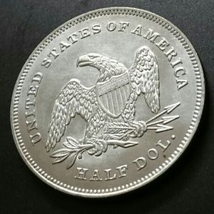 RARE (ArtDecorative Collection) Beuteful Silver Plated Coin /U.S. 1840 Half Dollar /Us The Best Condition- Mirror Effects / for Sale in Brooklyn, NY