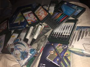 Lot of art supplies for sale for Sale in Los Angeles, CA