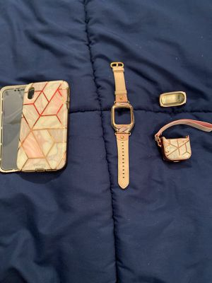 iPhone XS Max case, watch case, AirPods case for Sale in Melrose Park, PA