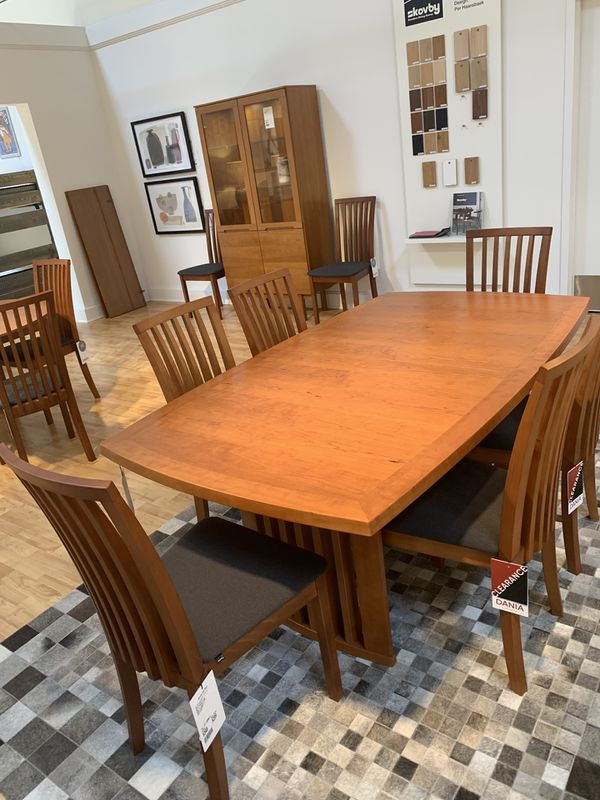 Dania Expandable Table 14 Chairs And Sideboard For Sale
