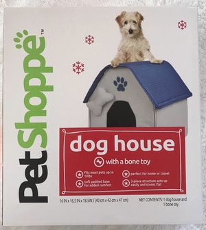 Dog House Bed w/Padded Base & Bone Toy Set, Brand NEW! Porch Pickup or Can Ship! for Sale in Roxbury Township, NJ