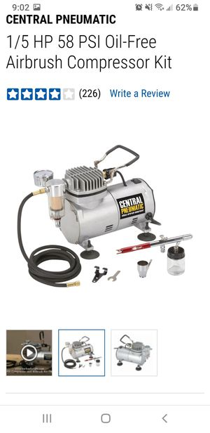 1/5 HP 58 PSI Oil-Free Airbrush Compressor Kit for Sale in Orangevale, CA