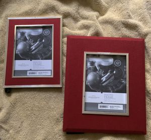 Two red velvet and silver frames for Sale in Chula Vista, CA