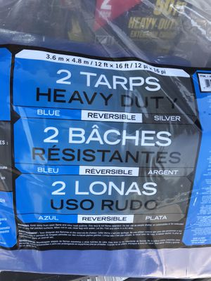 Two brand new tarps 12 x 16 heavy duty for Sale in Waterford Township, MI
