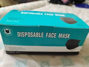 Black Disposable face mask (50 PCS) for Sale in Vernon, CA