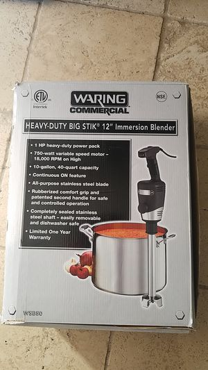 Waring commercial heavy -duty big stik blender for Sale in Aurora, CO