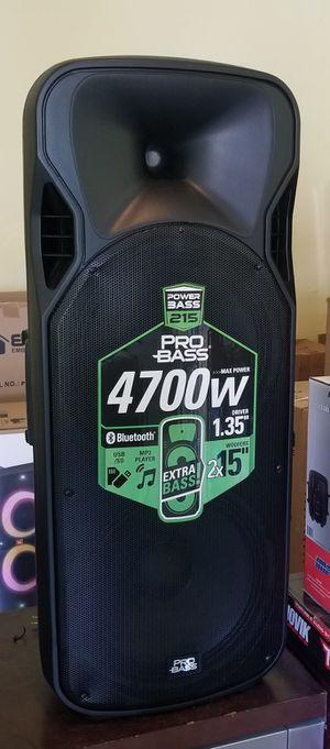 "4700 watts. Super Loud double 15"" woofer. DJ speaker. Bluetooh. FM radio. USB connection. Brand New for Sale in Doral, FL"