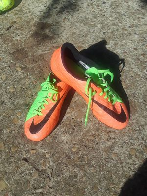 Nike Cleats size 6 boys or girls juniors size.$20.00 cash only for Sale in Dallas, TX