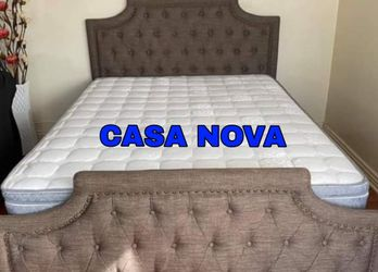 BRAND NEW BED FRAME QUEEN COMES IN BOX 📢📦MATTRESS INCLUDED 📢✨😴IN STOCK 📢 for Sale in Carson,  CA