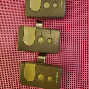 3 Craftsman Garage Door Opener Remote Controls for Sale in Moreno Valley, CA