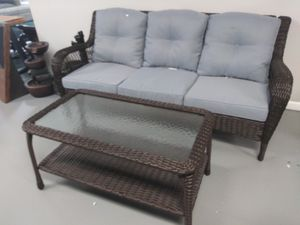 Wicker sofa and table for Sale in Fontana, CA