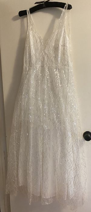 White formal sparkle dress wedding gown for Sale in Cheshire, CT