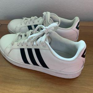 Woman's Adidas shoes Sz 9 White black stripe for Sale in Edmonds, WA