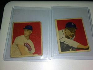 Two 1949 Bowman Baseball Cards ⚾ for Sale in Las Vegas, NV