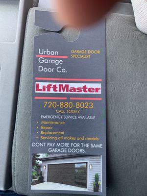 Garage door services for Sale in Aurora, CO