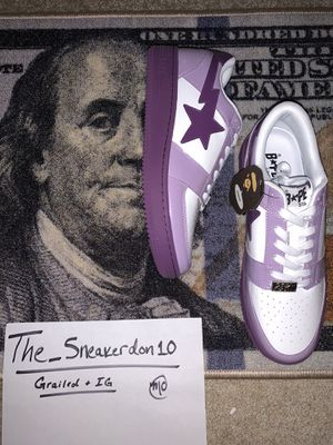 Bape sta 20th purple Size 13 men's for Sale in Waterford Township, MI