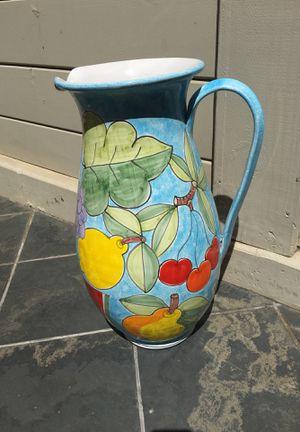 Sicilian large decorative pitcher for Sale in Coronado, CA