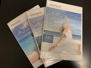 Yoga DVDs (3) for Sale in Prairieville, LA