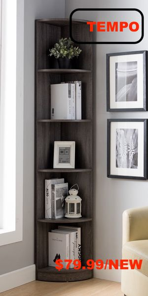 Corner Bookcase, Distressed Grey for Sale in Westminster, CA