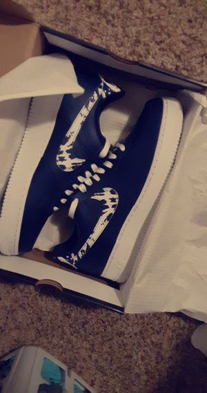 Nike air force 1 blue and white for Sale in Wenatchee, WA