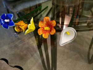 Hand blown glass flowers for Sale in Tampa, FL