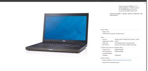DELL workstation laptop for Sale in Columbia, SC
