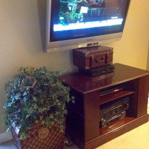 Cherry tv stand entertainment center for Sale in Midlothian, VA