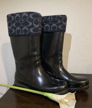 Coach Rain Boots/ Rain Boots/ Weather Boots size 8 for Sale in Lodi, CA
