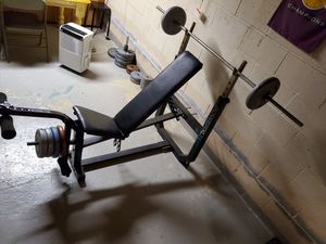 PowerXL860 BENCH/BAR/WEIGHTS for Sale in Northfield, OH