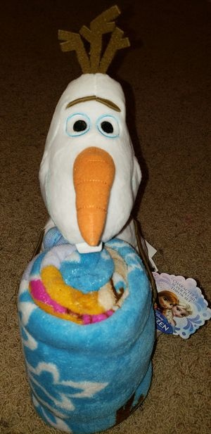 Disney's Frozen character pillow and fleece throw blanket set for Sale in Watauga, TX