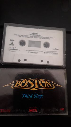 Cassettes of Yello and Boston Third stage for Sale in Laguna Beach, CA