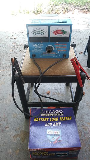 Chicago electric power tools 500 amp battery load tester for Sale in Tampa, FL