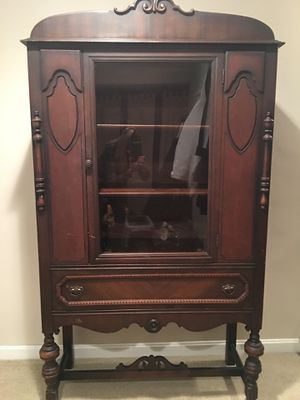 Antique China Cabinet with Original Glass Door for Sale in North Andover, MA