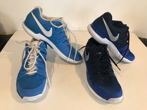 2 pairs of men's Nike Zoom Vapor Tour 9.5 Tennis Shoes Midnight Navy Silver and Blue Colors , Size 10 US for Sale in Everett, WA
