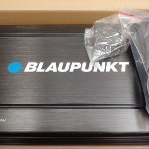 Car amplifier : Brand new BLAUPUNKT 2000 watts ab class amplifier 2 0hm built in crossover 25a×2 fuses remote sub control for Sale in Downey, CA