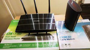 TPLINK DOCSIS Modem And TPLINK Router AC1750 Archer C7 for Sale in Walnut Creek, CA