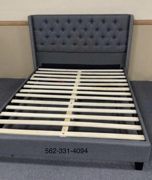 💥New Queen Tufted Blue/Gray Bed with Mattress Included 💥 for Sale in San Jose, CA