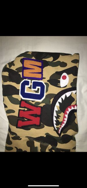 Bape yellow camo shark hoodie for Sale in New York, NY