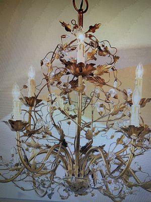 Ballard Designs 9 arm Claire estruscan gold chandelier for Sale in Seattle, WA