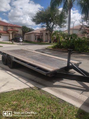 $1250 OBO, 18' Hevy duty flat bed trailer for Sale in Pembroke Pines, FL