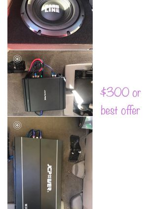 Subwoofer and amplifiers $200 price change for Sale in Hazard, CA