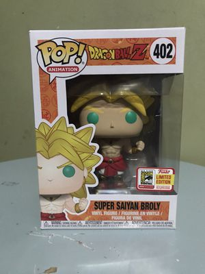 DBZ Broly SDCC 2018 funko pop for Sale in Irving, TX