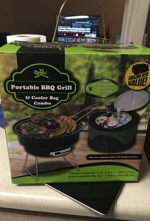 Portable bbq grill & cooler bag for Sale in Stockton, CA