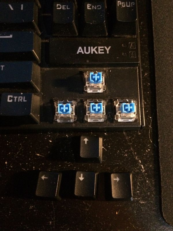 AUKEY Mechanical Gaming Keyboard Cherry MX Switches