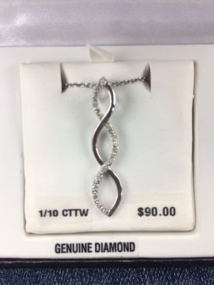 Brand New Sterling Silver Diamond Necklace for Sale in Southaven, MS